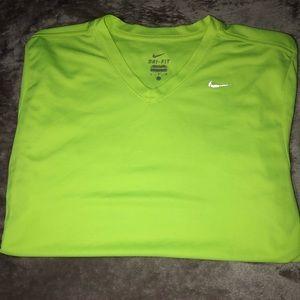 Nike Neon Green Short Sleeve Shirt